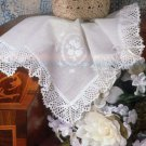 W067 Crochet PATTERN ONLY Lacy Bridal Hankie Edging Pattern Wedding