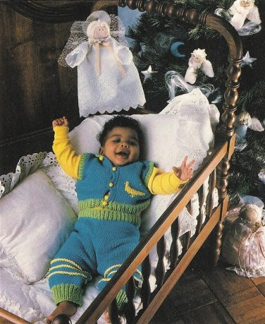 X196 Craft PATTERN ONLY Gift Tags and Baby's Knit Sweater Set Pattern