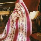 Y612 Crochet PATTERN ONLY Valentine Floral Afghan Pattern