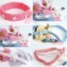 W363 Crochet PATTERN ONLY Set of 5 Little Lady Baby Headbands Pattern