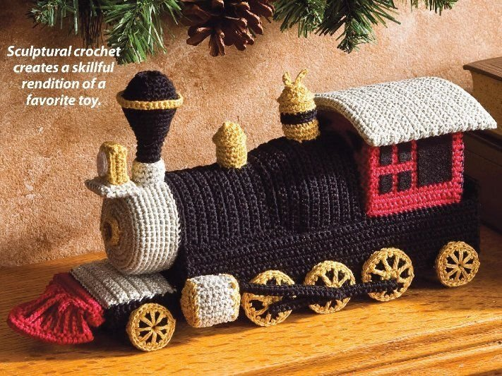 X349 Crochet PATTERN ONLY Toy Locomotive Train Pattern