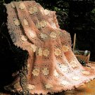 Y239 Crochet PATTERN ONLY Southern Flower Blossoms Granny Square Afghan Pattern
