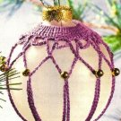 X613 Crochet PATTERN ONLY Beaded Fancy Christmas Ornament Cover