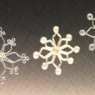 X043 Bead PATTERN ONLY Beaded Shimmering Snowflake Christmas Ornament Pattern