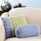 Y873 Crochet PATTERN ONLY 2 Multiple Stitch and Color Pillow Patterns