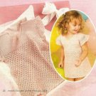 X921 Crochet PATTERN ONLY Sweet Pink Fluff Toddler Dress Pattern