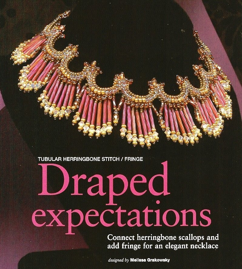 X728 Bead PATTERN ONLY Beaded Draped Expectation Necklace Pattern