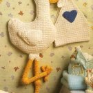 X700 Crochet PATTERN ONLY Baby Room Stork Wall Art Pattern