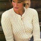 X106 Knit PATTERN ONLY Bead-Smocked Cardigan Sweater Pattern