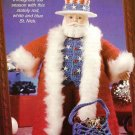 X129 Crochet PATTERN ONLY All-American USA Santa Pattern Christmas