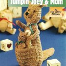 X571 Crochet PATTERN ONLY Jumping Joey & Mom Kangaroo Toy Doll Patterns