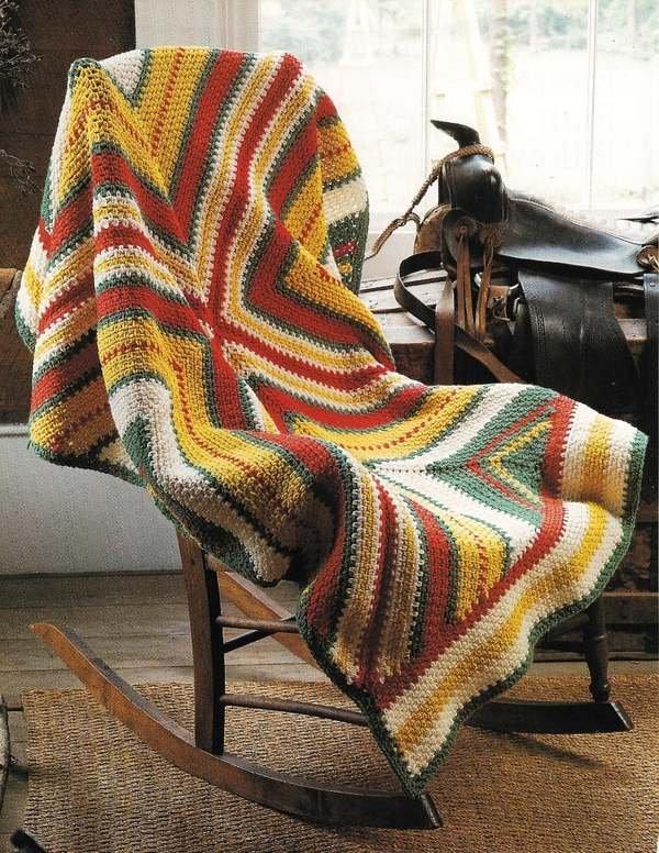 X377 Crochet PATTERN ONLY Southwestern Sunset & Fiesta Flair 2 Afghan Pattern