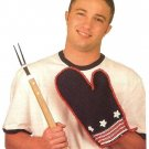 X372 Crochet PATTERN ONLY All-American Grilling Mitt Pot Holder Pattern
