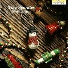 X421 Crochet PATTERN ONLY Tiny Snowman Christmas Ornament Pattern