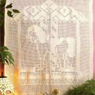 X265 Filet Crochet PATTERN ONLY Carousel Horse Wall Hanging or Curtain Pattern