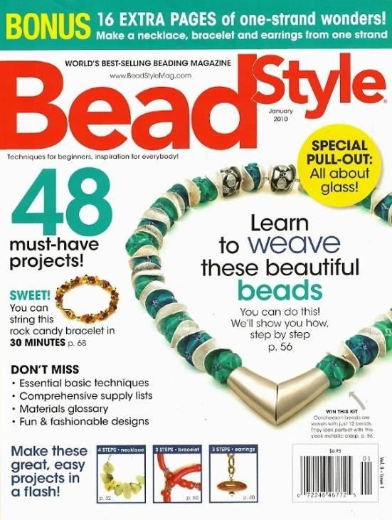X289 Magazine Back Issue Bead Style Magazine January 2010