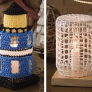 W371 Crochet PATTERN ONLY Hurricane Lamps Lighthouse Summer Pattern