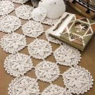 W375 Crochet PATTERN ONLY Sand Dollar Table Runner Pattern