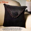 W380 Crochet PATTERN ONLY Soft Shadows Pillow Pattern Looks Like an Envelope