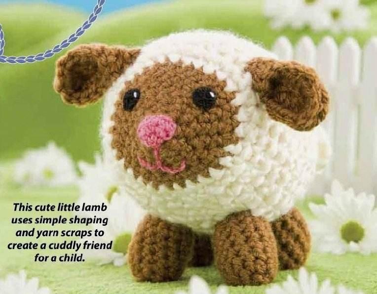 W202 Crochet PATTERN ONLY Field the Little Lamb Toy Doll Pattern