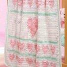 W252 Crochet PATTERN ONLY Hearts Aligned Baby Blanket Afghan Pattern