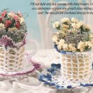 W217 Crochet PATTERN ONLY Bloomin' Teacup and Saucer Pattern in 2 Styles