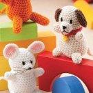 W269 Crochet PATTERN ONLY Amigurumi Animal Friends Mouse Monkey Dog Pattern
