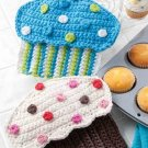 W293 Crochet PATTERN ONLY Crazy for Cupcakes Potholder Pot Holder Patterns