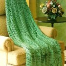 W251 Crochet PATTERN ONLY Irish Shamrocks Afghan Throw Pattern