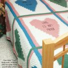 W315 Crochet PATTERN ONLY Hearts of Love Afghan Pattern