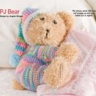 W313 Crochet PATTERN ONLY Sleepy Sweet Snuggle PJ Bear Toy Doll Pattern