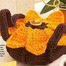 Y144 Crochet PATTERN ONLY Sunflower Casserole Carrier + Bonus