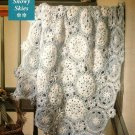 Y515 Crochet PATTERN ONLY Snowy Skies Snowflake Afghan Pattern Christmas