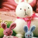 X319 Crochet PATTERN ONLY Easter Bunny Mother & Babies Toy Doll Pattern