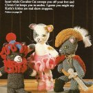 Y281 Crochet PATTERN ONLY Karla Thornburg's Calico, Cavalier & Clown Cats Toy