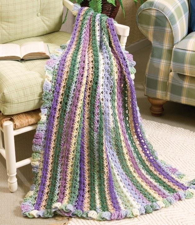 W174 Crochet PATTERN ONLY Pastoral Reflections Afghan Pattern