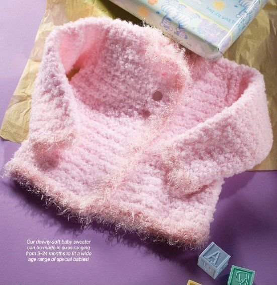 W321 Crochet PATTERN ONLY Little Angel Soft Baby Cardigan Sweater Pattern