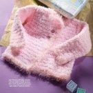 W321 Crochet PATTERN ONLY Little Angel Soft Baby Cardigan Sweater Pattern