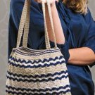 W356 Crochet PATTERN ONLY Points of Interest Purse Bag Tote Pattern