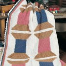 W310 Crochet PATTERN ONLY Spools of Thread Quilt Afghan Pattern