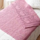 W303 Filet Crochet PATTERN ONLY Hearts & Flowers Filet Afghan Pattern