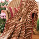 W302 Crochet PATTERN ONLY Garden Plaid and Speckled Plaid Afghan Patterns
