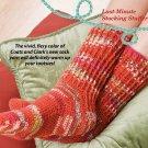 W287 Crochet PATTERN ONLY Fiery Socks Pattern