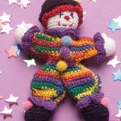 W279 Crochet PATTERN ONLY Tiny the Clown Toy Doll Pattern