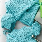W268 Crochet PATTERN ONLY Stitch Sampler Baby Sweater Hat Blanket Patterns