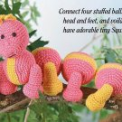 W267 Crochet PATTERN ONLY Squirmy Worm or Caterpillar Bug Toy Doll Pattern