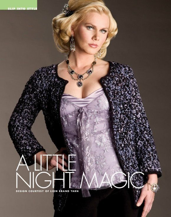 W260 Crochet PATTERN ONLY Ladies Night Magic Jacket Pattern