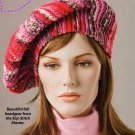 W255 Crochet PATTERN ONLY Slip-Stitch Beret Hat Pattern