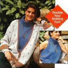Y630 Knit PATTERN ONLY Turtleneck shell & Duplicate Stitch Cardigan Sweater Patt