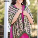 W245 Crochet PATTERN ONLY Rose Garden Shawl Pattern